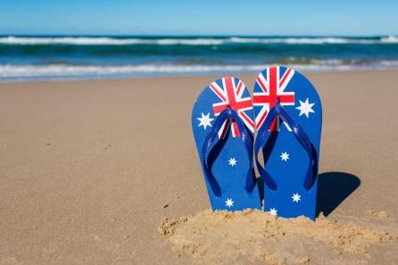 Australian Flag Beach Thongs